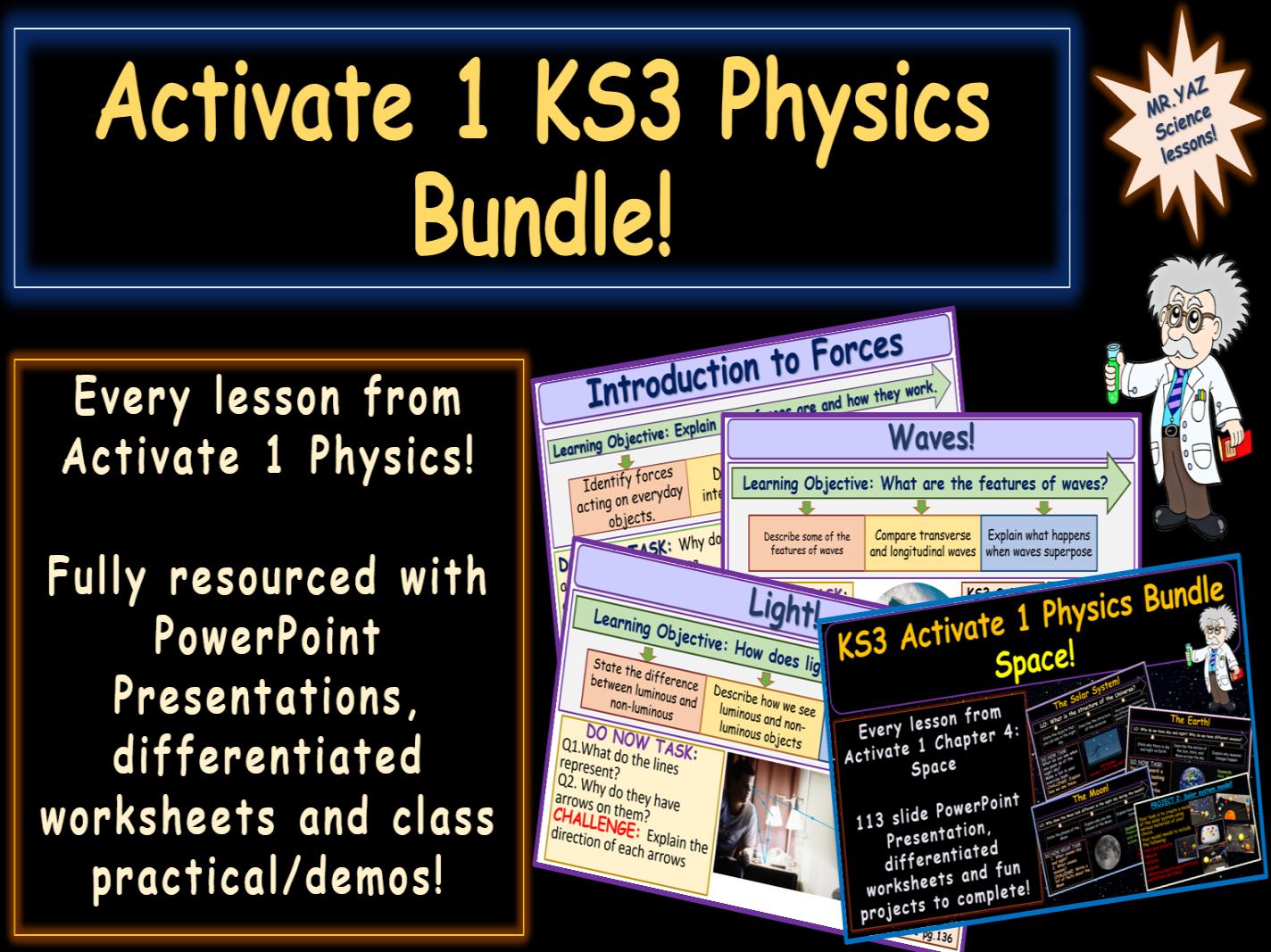 Activate 1 KS3 Physics bundle
