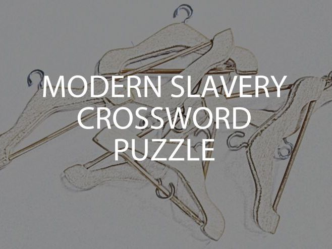 Modern Slavery Crossword Puzzle