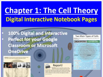 The Cell Theory - Digital Interactive Notebook Pages