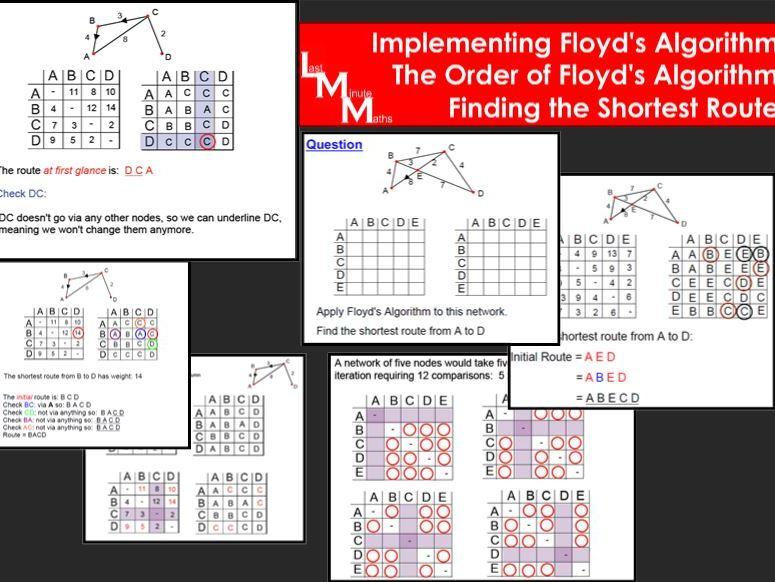 Floyd's Algorithm - Decision 1 Full lesson