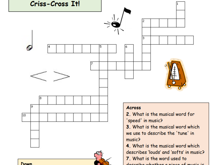 Elements of Music - Criss Cross and Criss Cross Plus Puzzles!