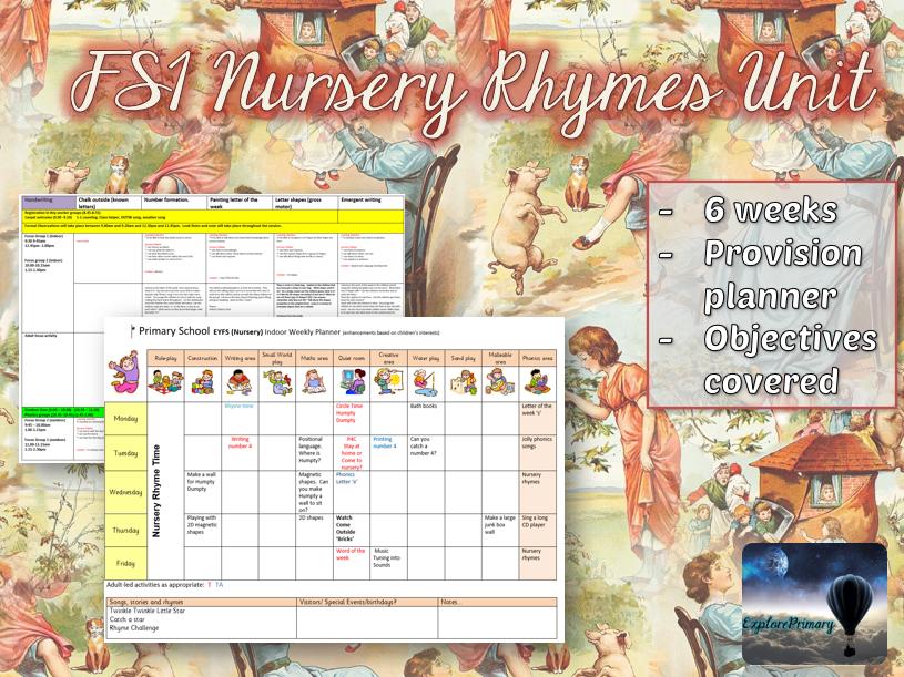 FS1 EYFS Nursery Rhymes - Full 6 week plan