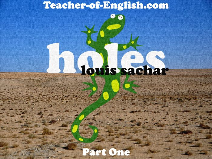 Holes - Chapters 1 - 3 (PowerPoint, lesson plans, worksheets and overview)