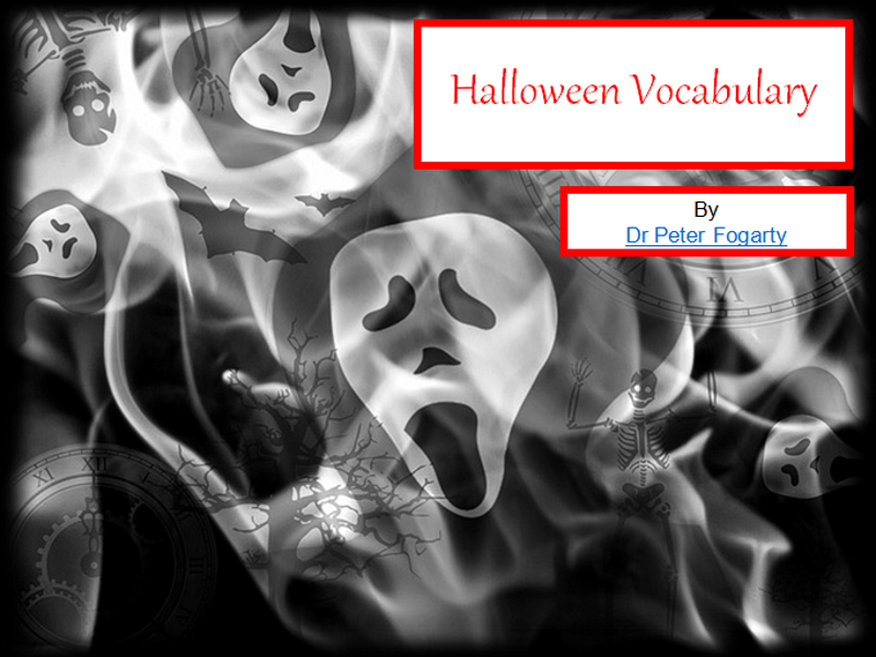 Halloween Vocabulary - PowerPoint Presentation+ 31 Ideas About How To Use Resource in the Classroom
