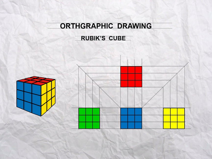 Orthographic Projection - Rubik's Cube