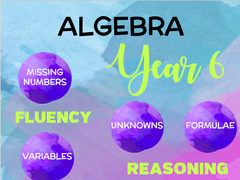 Year 6 Maths: Algebra