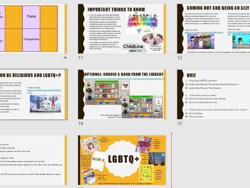 LGBTQ+ - Year 6 PSHE 2020 Curriculum