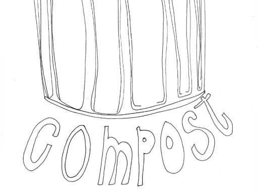 Compost :Recycling and Materials Colouring Page