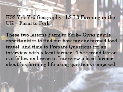 KS2 Geography Farming in the UK