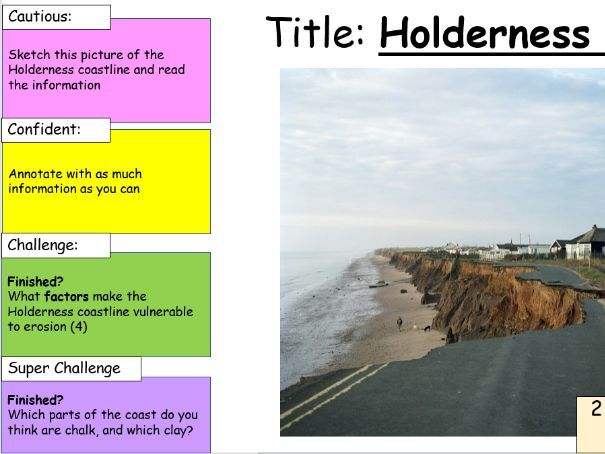 Coastal erosion at Holderness