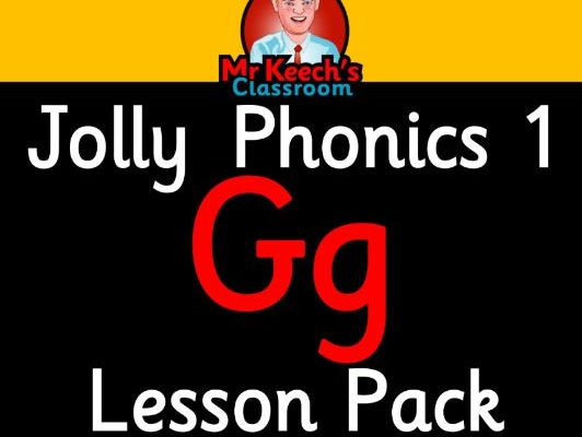 Phonics Worksheets, Lesson Plan, Flashcards | Jolly Phonics Letter G Lesson Pack