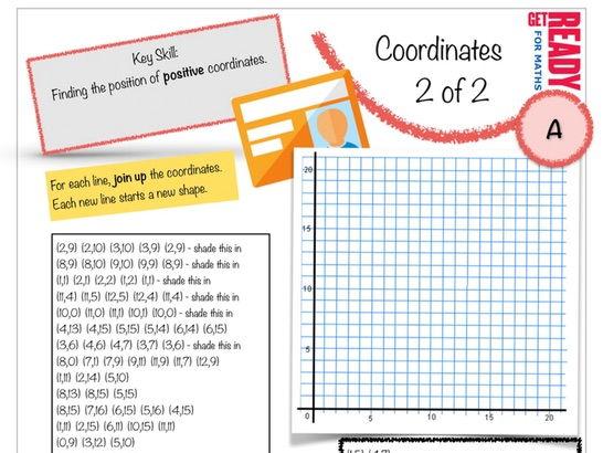 Basic Coordinates Worksheet (2 of 2)
