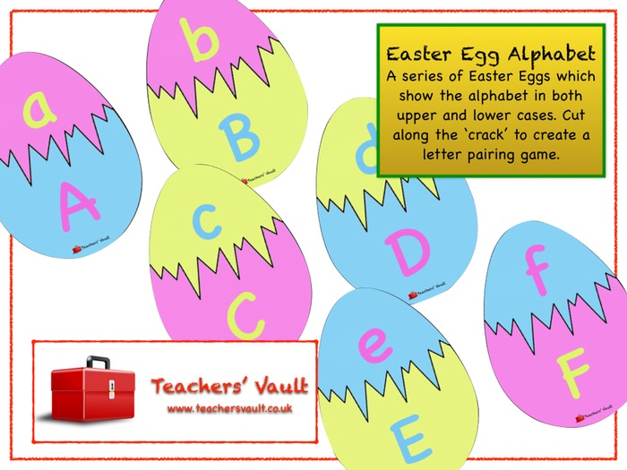 Easter Egg Alphabet Matching