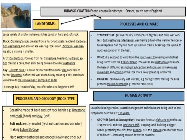 GCSE Geography Case study revision cards OCR B