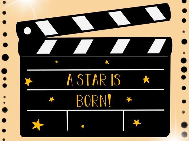A Star is Born Birthday Display