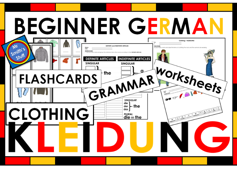 German - Clothing - VOCAB and GRAMMAR