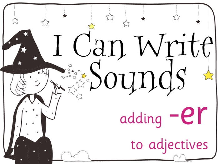 Magic Sounds Phonics Set 34 adding -er to adjectives