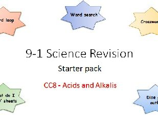 C8 Acids and Alkalis Revision starter pack Science 9-1