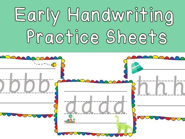 Early Handwriting Practice Sheets