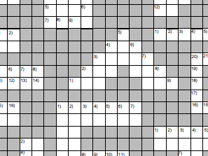 Number based crossword puzzle.