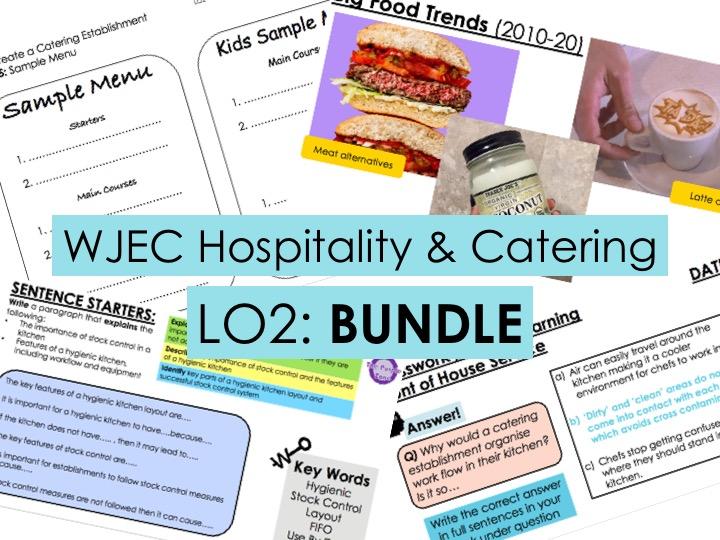 KS4 WJEC Hospitality Unit 01 LO2 - FULL BUNDLE