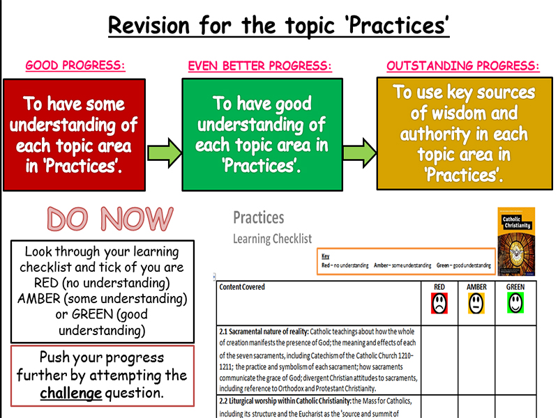 Revision lesson for 'Practices' including PLC - New Edexcel Specification