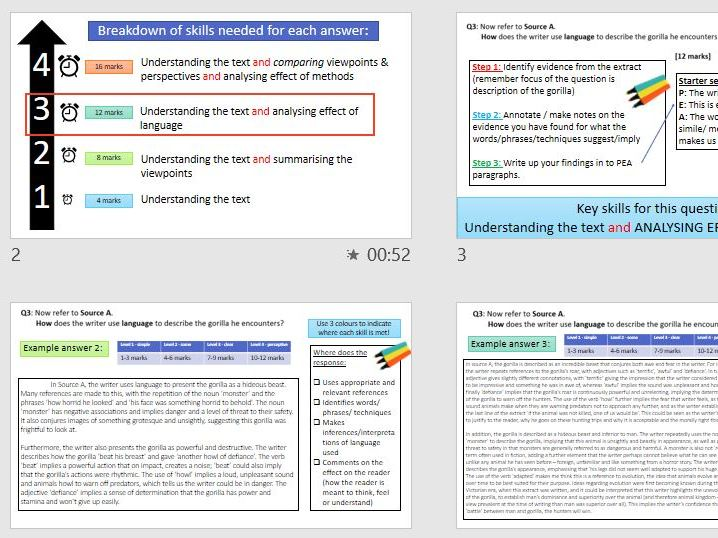AQA Lang Paper 2 - Full walkthrough with model answers (section A)
