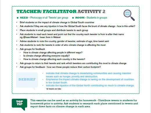 Climate Change - A resource for teachers and facilitators to explore the impact of climate change