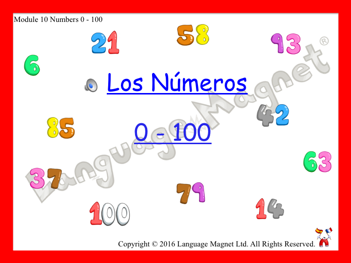 Spanish Numbers 0 to 100