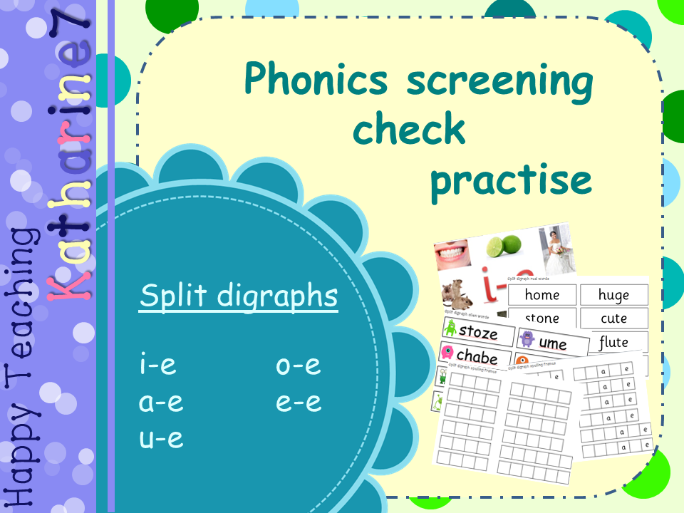 Split digraphs - phonics screening check practise