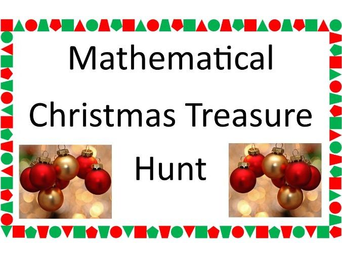 Maths Christmas Treasure Hunt