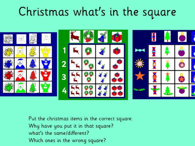 Christmas What's in the Square?