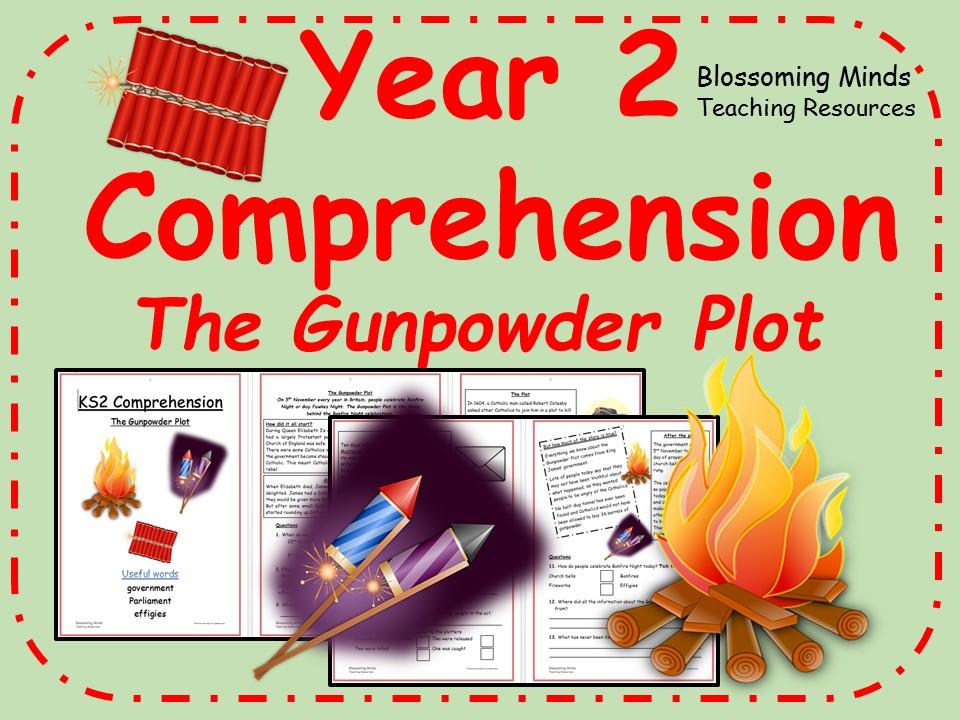 Year 2 comprehension - The Gunpowder Plot (Bonfire Night/Guy Fawkes/Fireworks)
