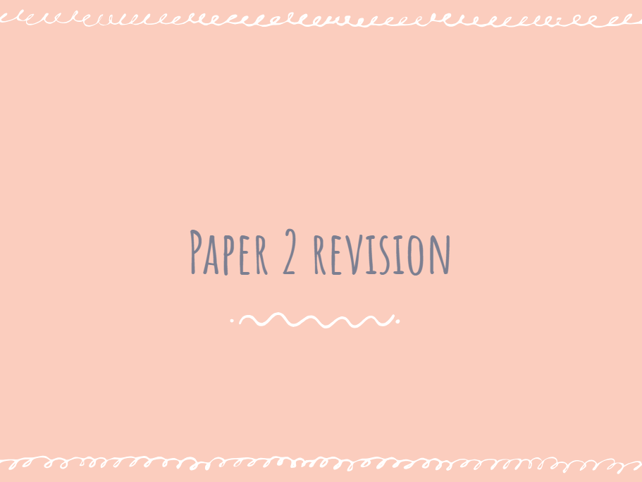 AQA Chemistry Paper 2 Revision