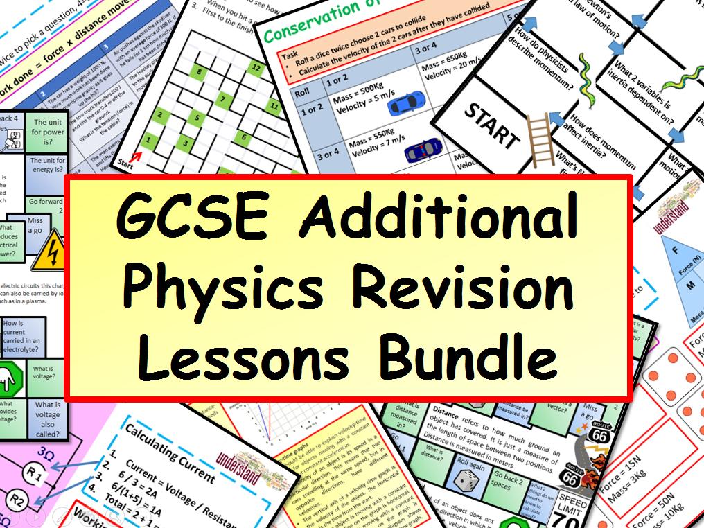 GCSE Additional Physics Revision Lessons Bundle