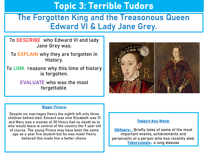The Forgotten King and the Treasonous Queen- Edward VI & Lady Jane Grey.
