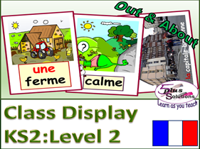 PRIMARY FRENCH DISPLAY/FLASHCARDS (KS2/3): accommodation, environment, ER verbs, photos of Brittany