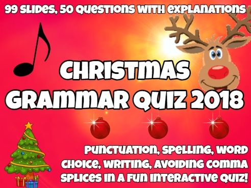Christmas Grammar Quiz 2018: 50 questions with music & celebrity rounds