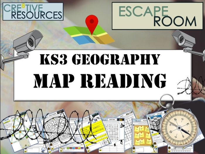 KS3 Geography Escape Room - Maps - End of Year
