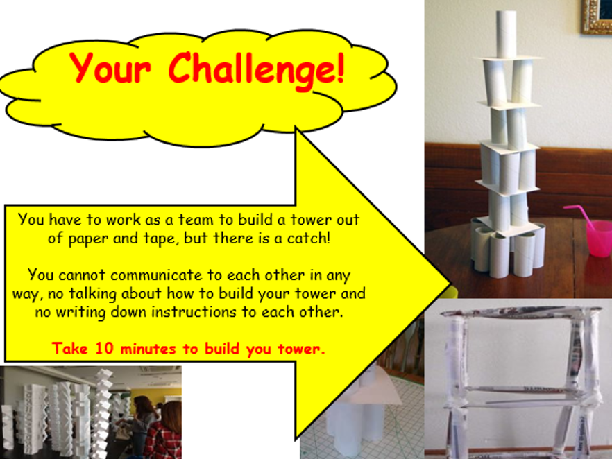 Paper Tower Challenge - Team Building KS1, KS2, KS3, KS4