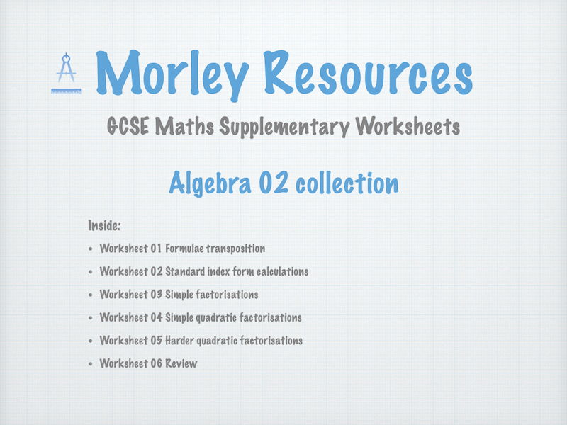 Algebra 02 GCSE Maths Collection