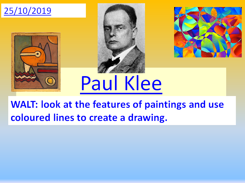 Paul Klee ~ A Complete Unit of Work related to this artists work.
