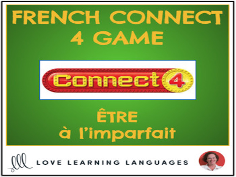 French Connect 4 Game - ÊTRE - Imperfect Tense