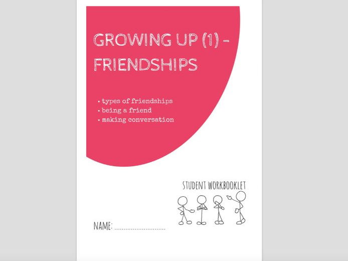 SPECIAL EDUCATION - GROWING UP (1) - FRIENDSHIPS workbooklet
