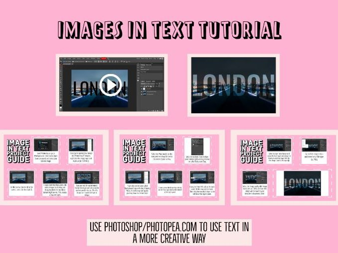 Images In Text Tutorial (Photoshop/Photopea)