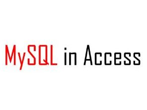 Using MySQL in Microsoft Access