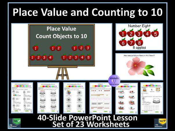 Place Value & Counting to 10 PowerPoint Lesson & 23 Worksheets To Support White Rose Maths Year 1