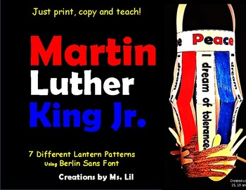 Martin Luther King Jr Crafts  ::  Black History Month Crafts ::  MLK Day Crafts