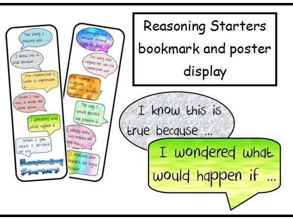 Reasoning Starters display and bookmark