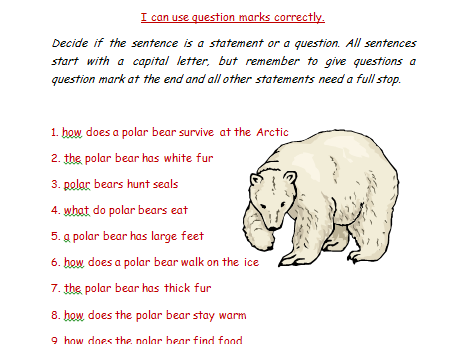 I can use question marks Polar Regions themed
